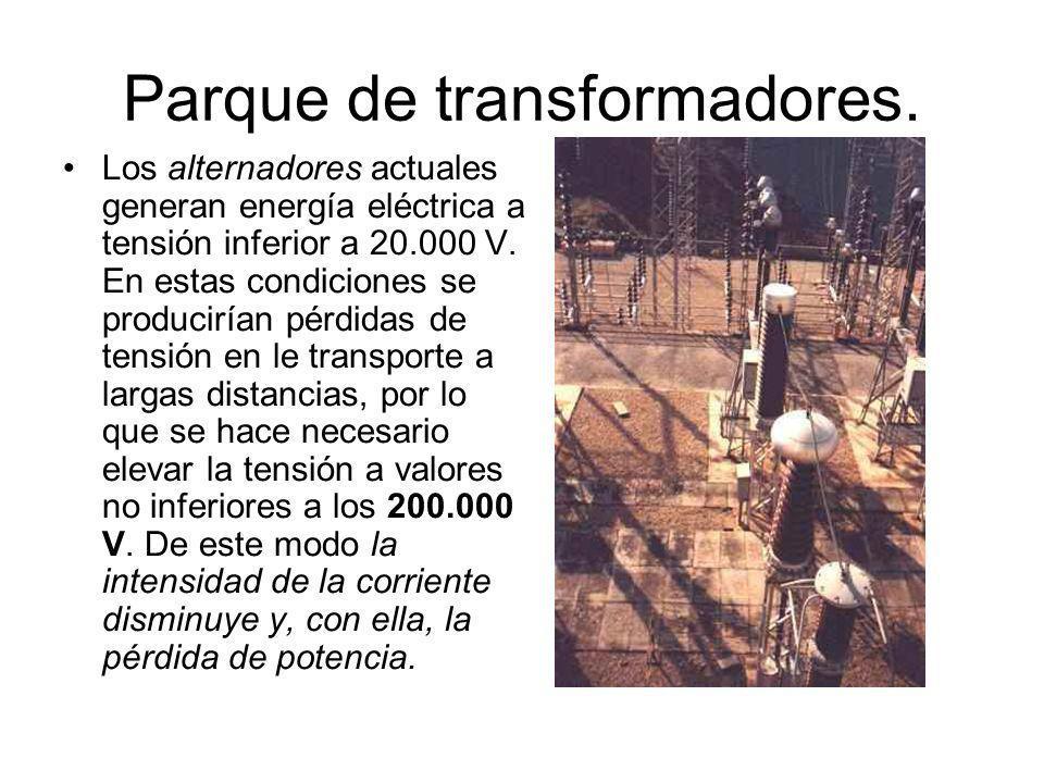Parque de transformadores.