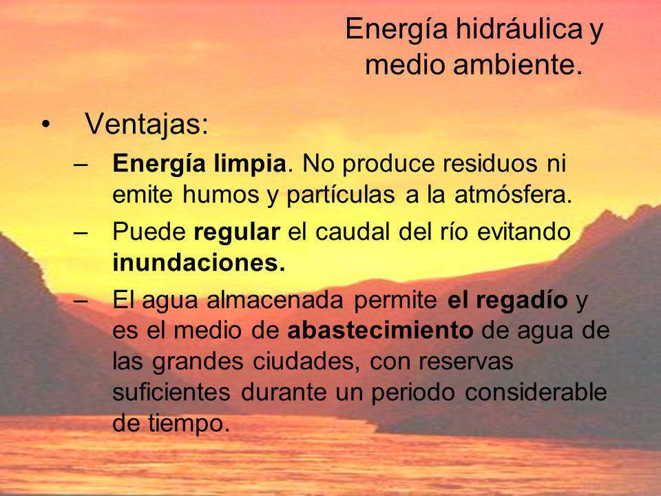 Energía hidráulica y medio ambiente.