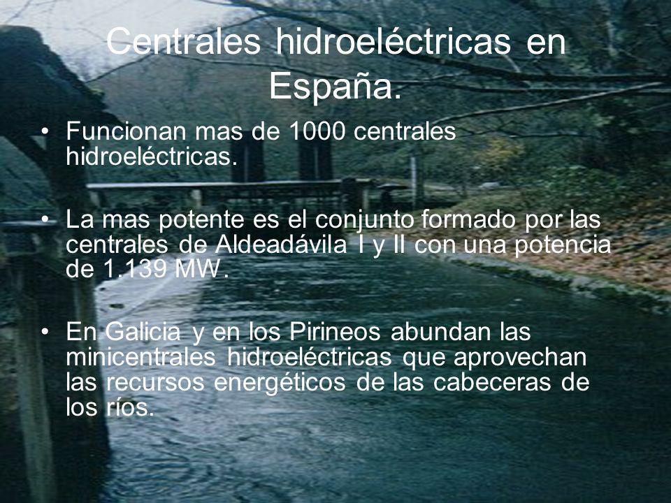 Centrales hidroeléctricas en España.