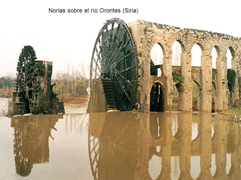 Norias sobre el río Orontes (Siria)