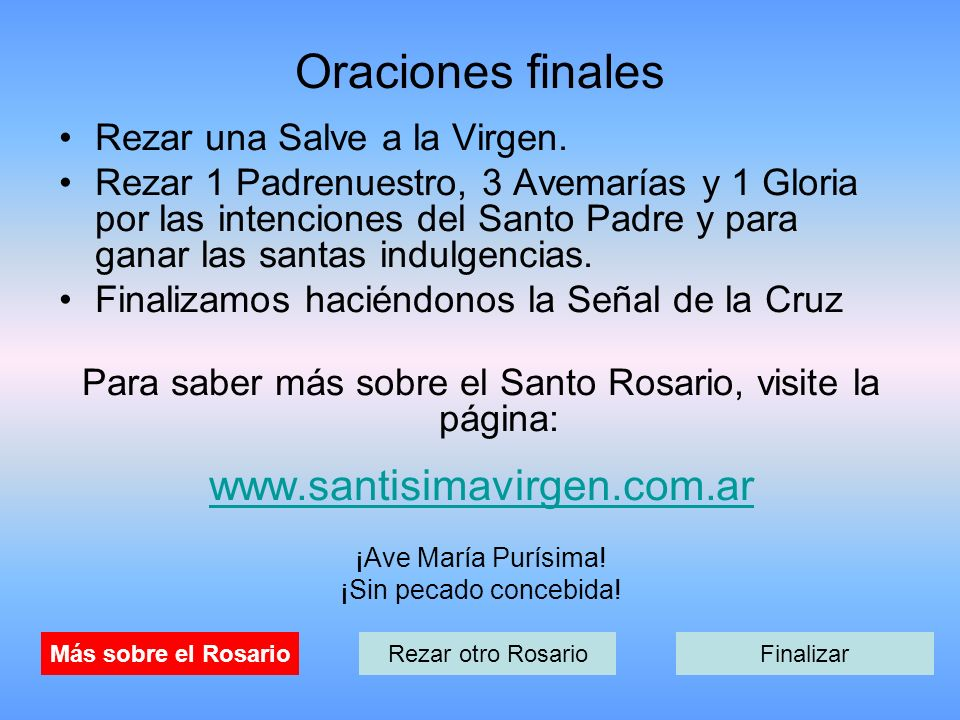 Para saber más sobre el Santo Rosario, visite la página: