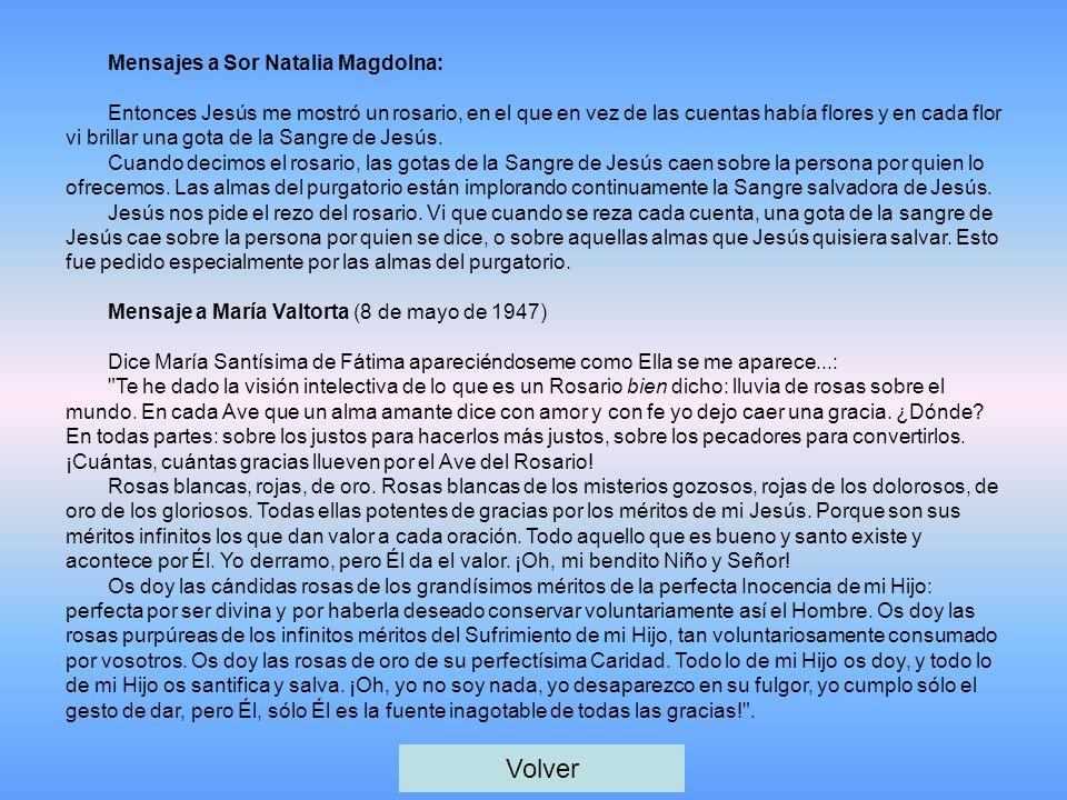 Volver Mensajes a Sor Natalia Magdolna: