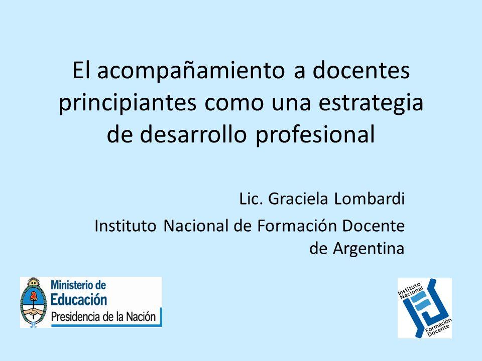 El acompañamiento a docentes principiantes como una estrategia de desarrollo profesional