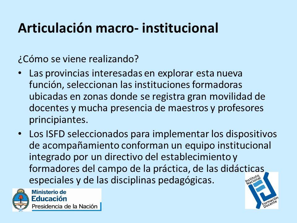 Articulación macro- institucional