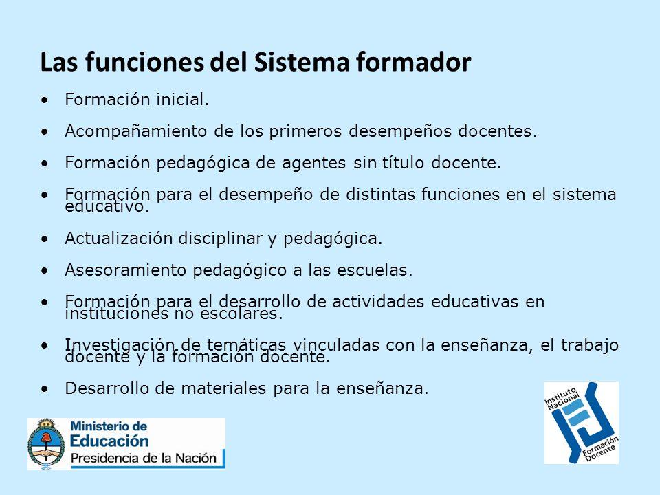 Las funciones del Sistema formador