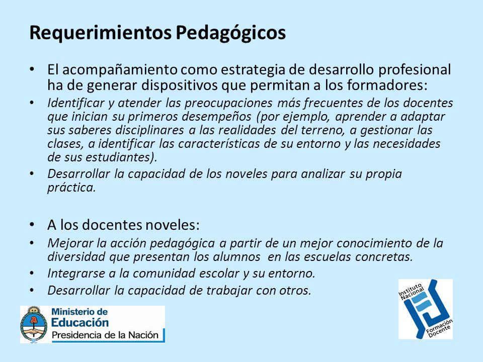 Requerimientos Pedagógicos