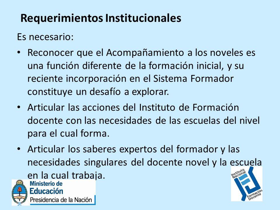 Requerimientos Institucionales