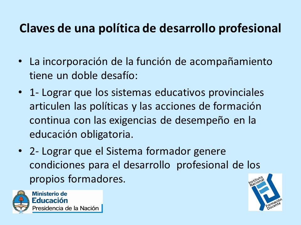 Claves de una política de desarrollo profesional