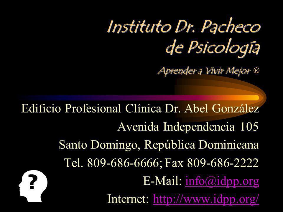 Instituto Dr. Pacheco de Psicología Aprender a Vivir Mejor ®