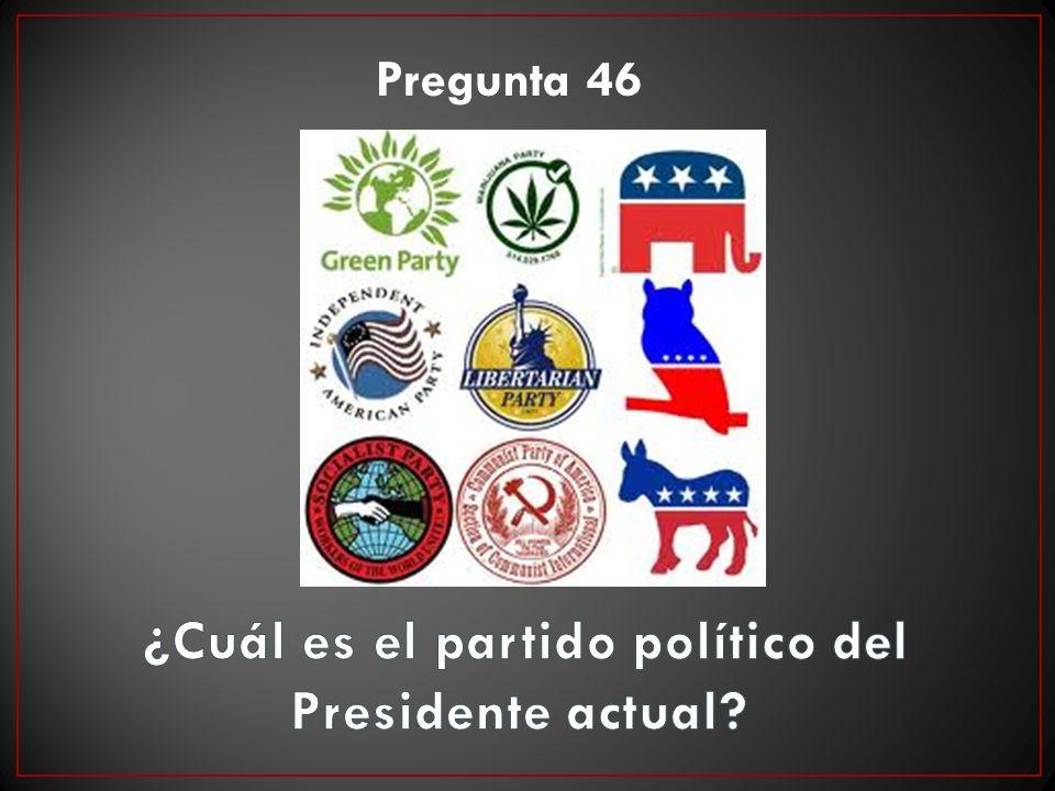 ¿Cuál es el partido político del Presidente actual