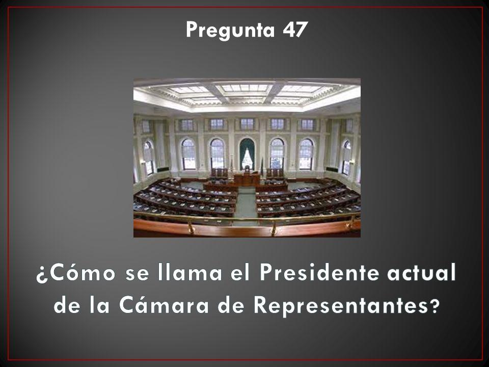 ¿Cómo se llama el Presidente actual de la Cámara de Representantes