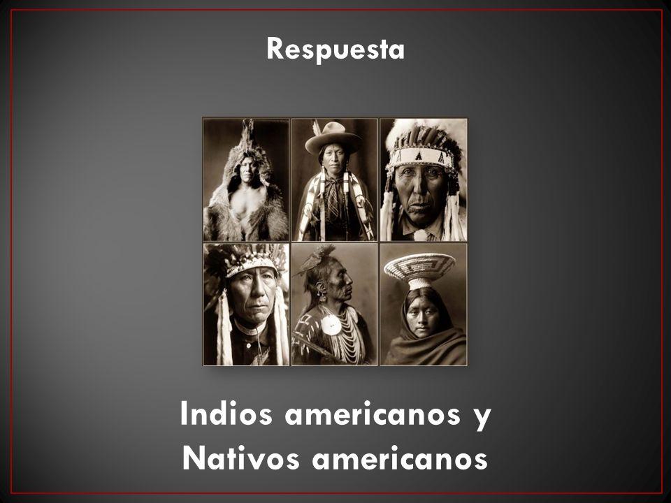 Indios americanos y Nativos americanos