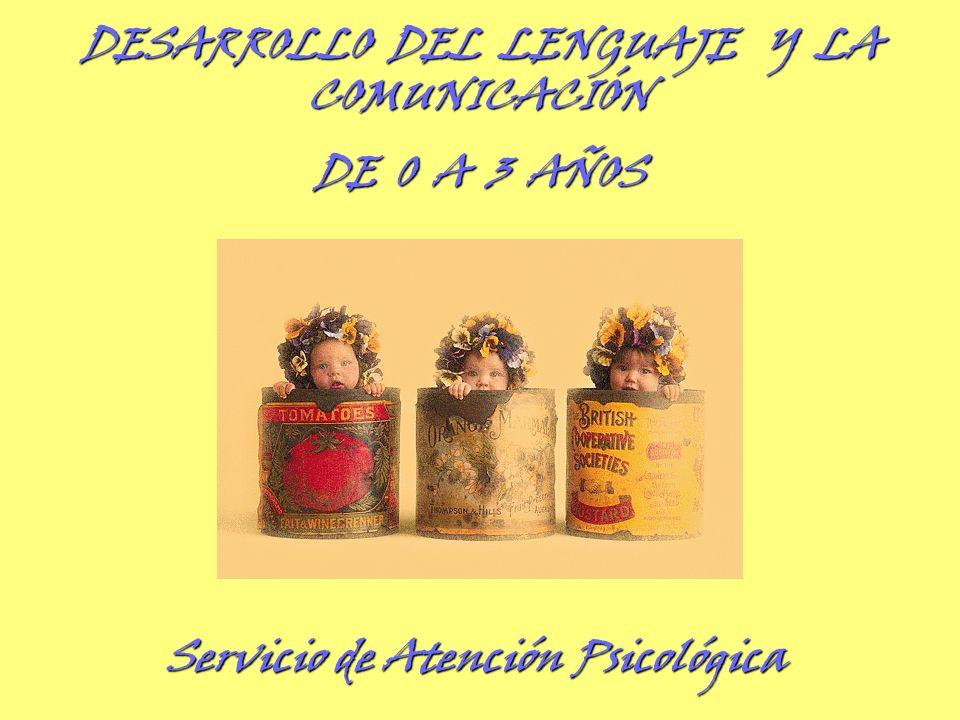 DESARROLLO DEL LENGUAJE Y LA COMUNICACIÓN DE 0 A 3 AÑOS