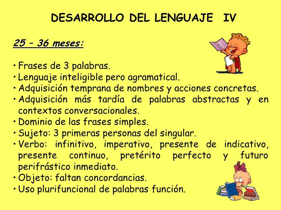 DESARROLLO DEL LENGUAJE IV