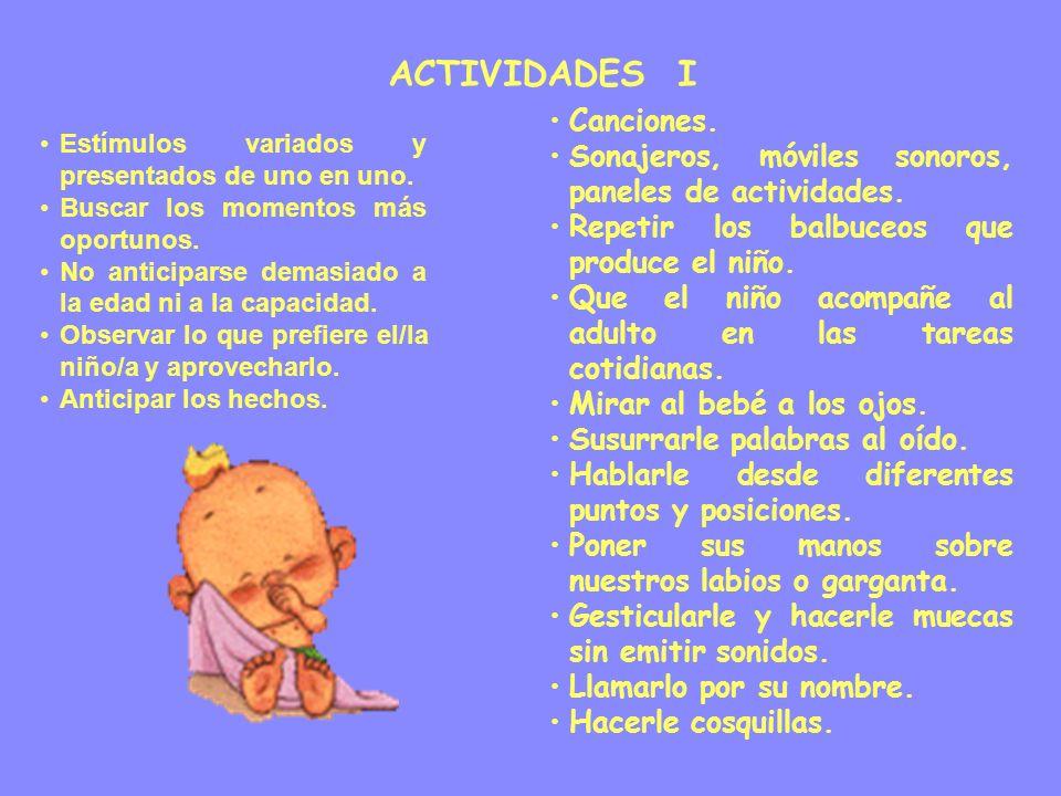 ACTIVIDADES I Canciones.