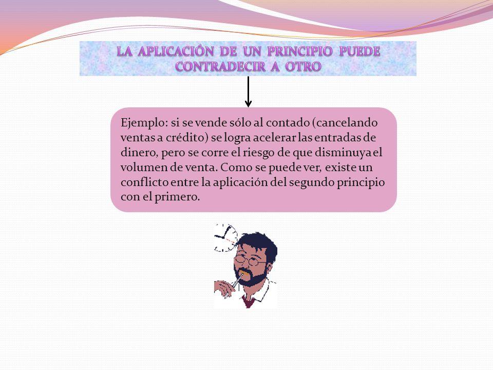 LA APLICACIÓN DE UN PRINCIPIO PUEDE CONTRADECIR A OTRO