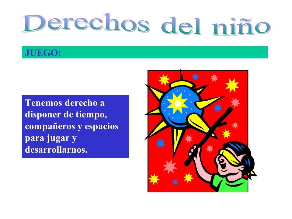 Derechos del niño JUEGO: