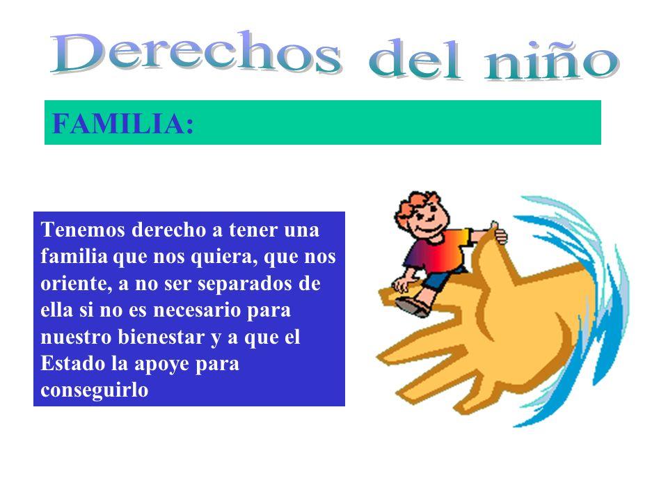 Derechos del niño FAMILIA: