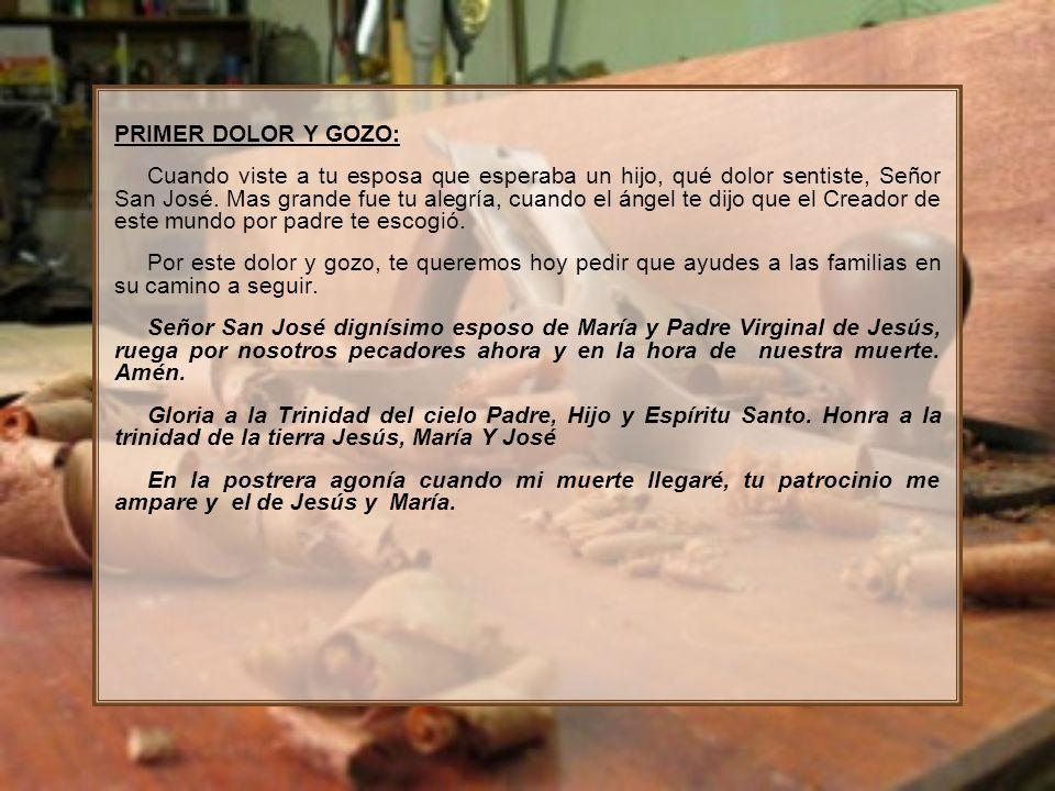 PRIMER DOLOR Y GOZO: