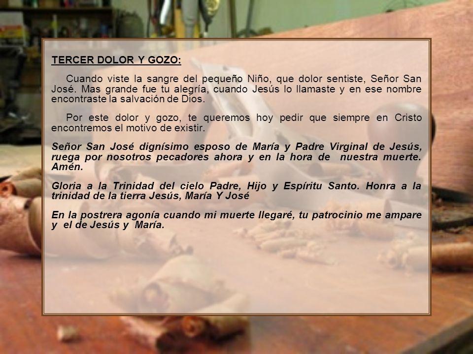 TERCER DOLOR Y GOZO: