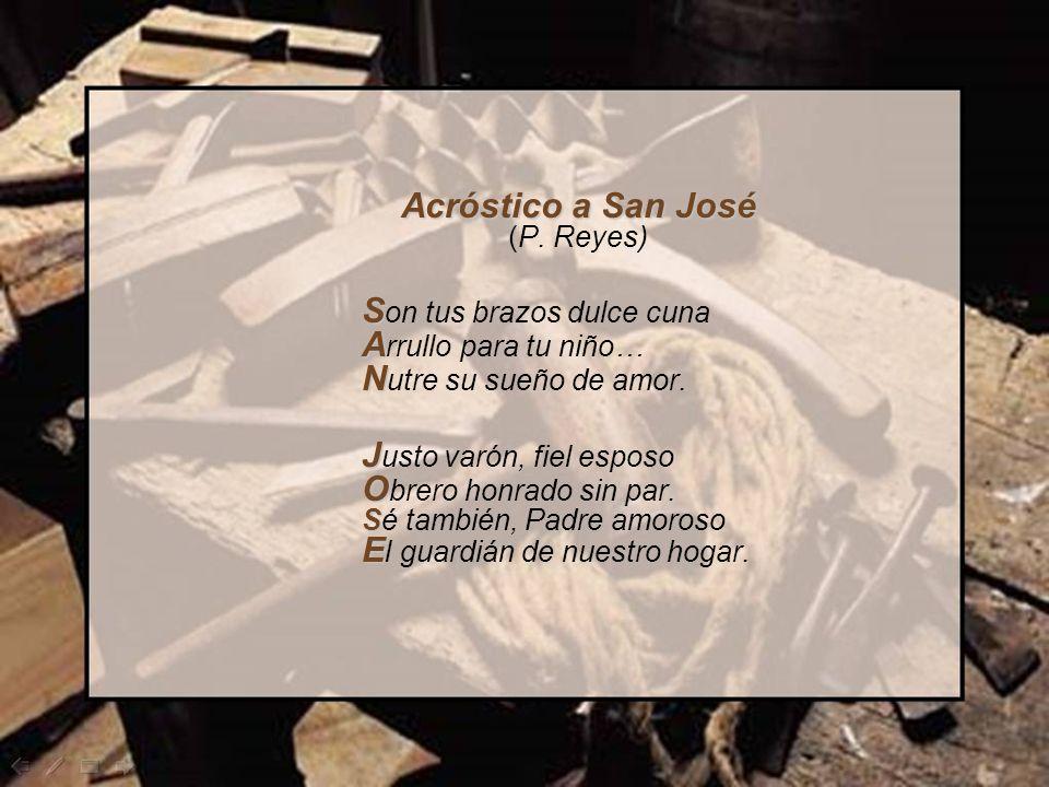 Acróstico a San José (P. Reyes)