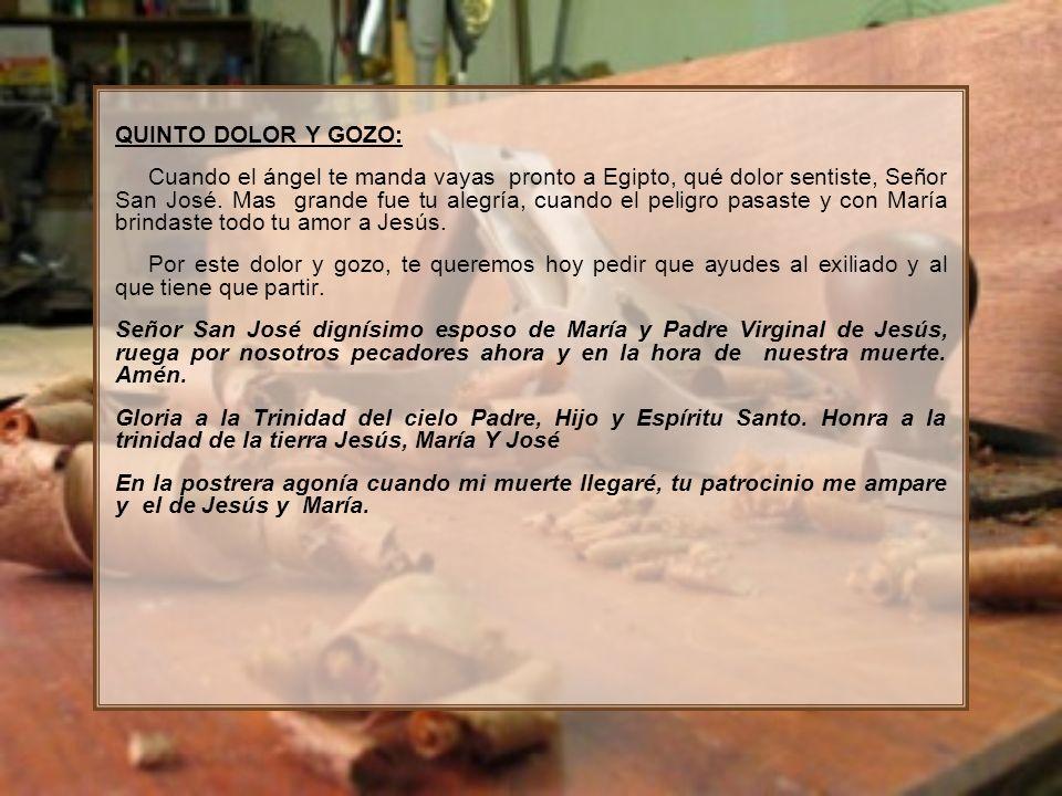 QUINTO DOLOR Y GOZO:
