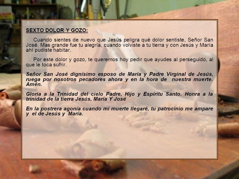 SEXTO DOLOR Y GOZO: