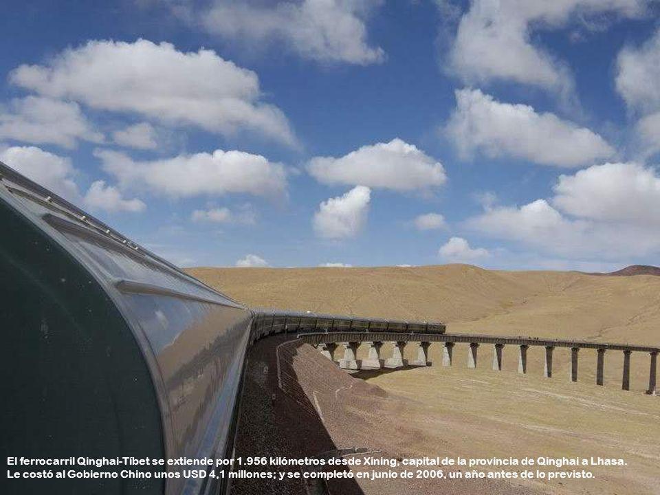 El ferrocarril Qinghai-Tíbet se extiende por 1