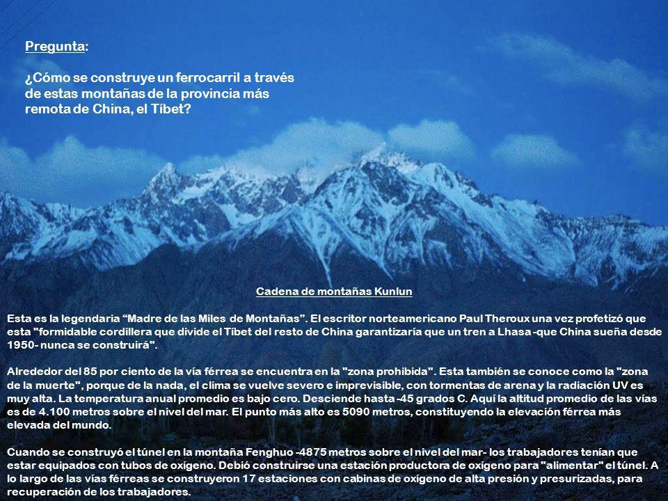 Cadena de montañas Kunlun