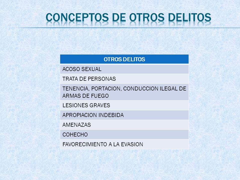 CONCEPTOS DE OTROS DELITOS