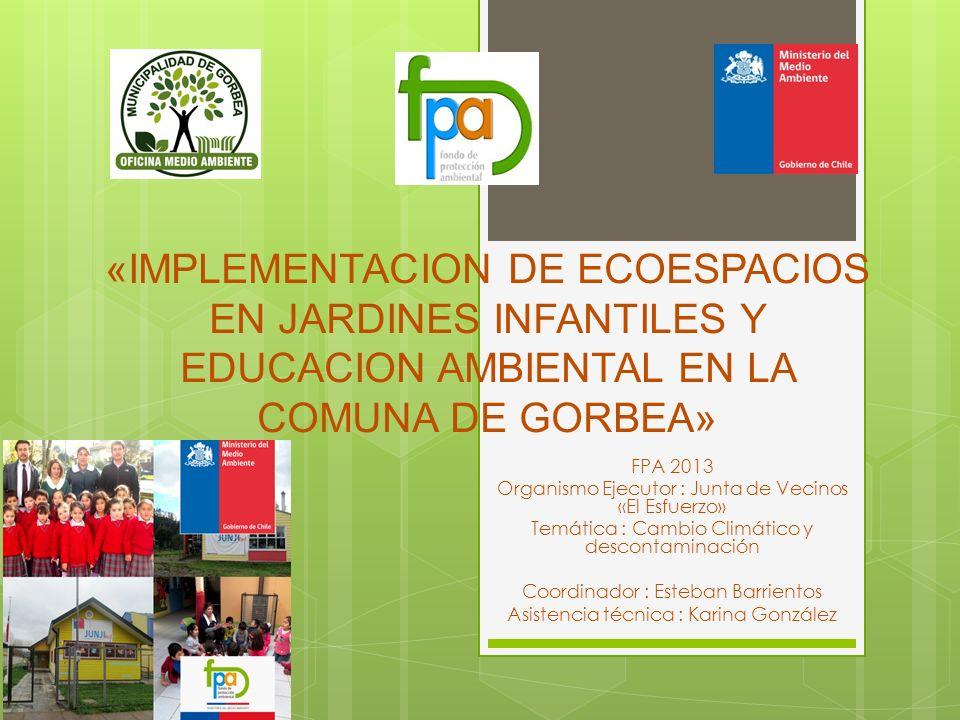 «IMPLEMENTACION DE ECOESPACIOS EN JARDINES INFANTILES Y EDUCACION AMBIENTAL EN LA COMUNA DE GORBEA»