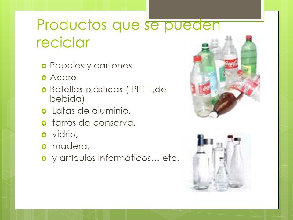 Productos que se pueden reciclar