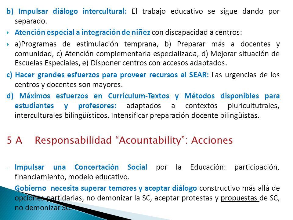 5 A Responsabilidad Acountability : Acciones