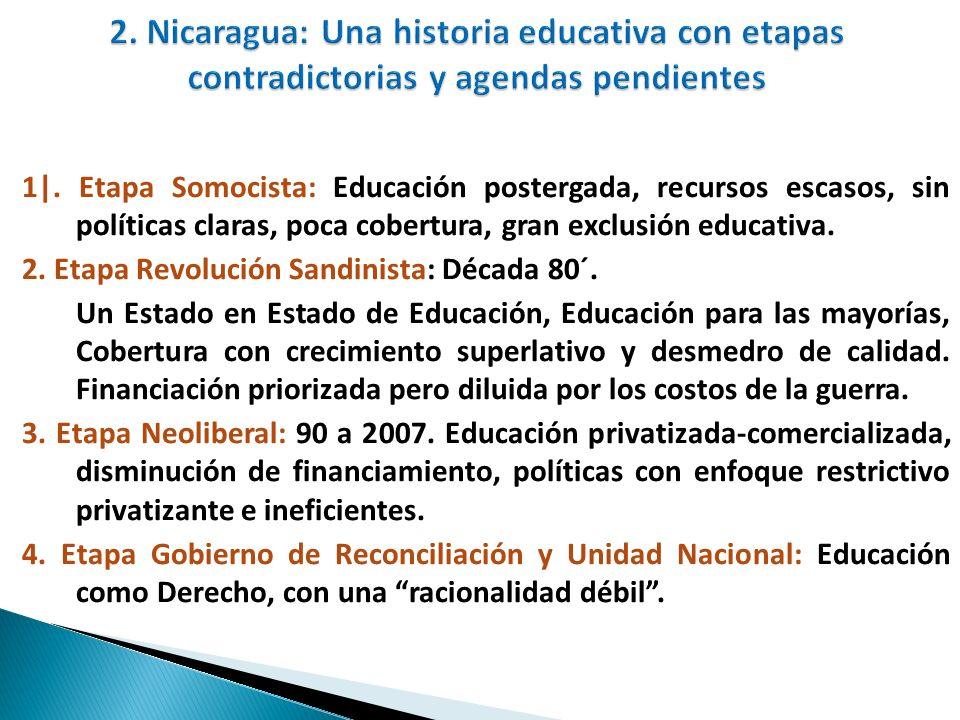 2. Nicaragua: Una historia educativa con etapas contradictorias y agendas pendientes