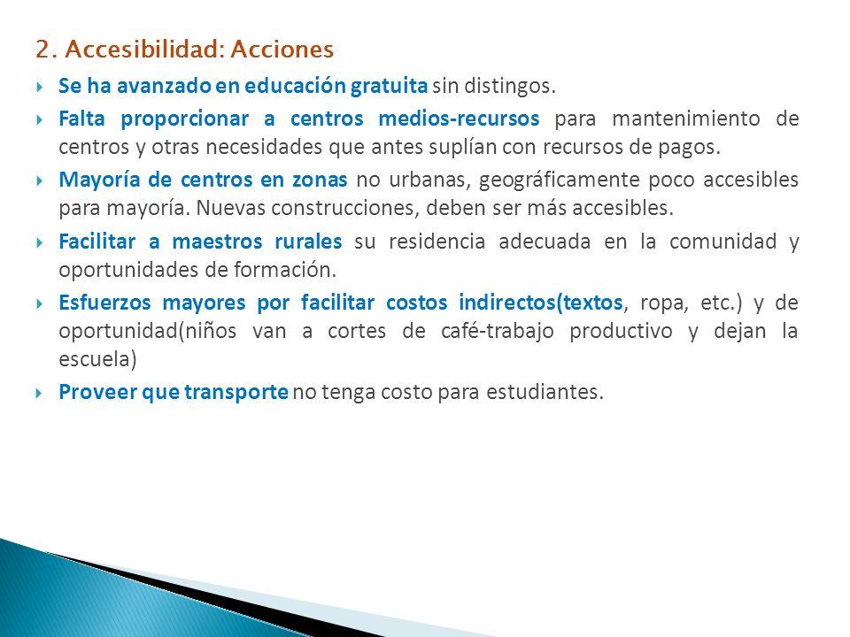 2. Accesibilidad: Acciones