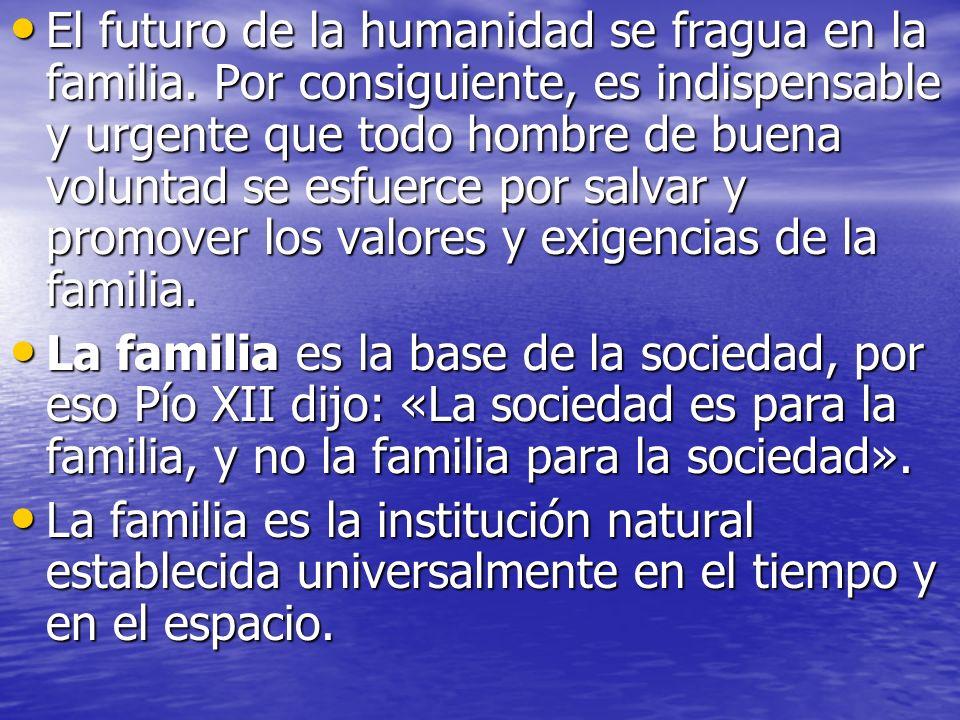 El futuro de la humanidad se fragua en la familia