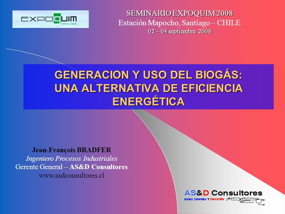 GENERACION Y USO DEL BIOGÁS: UNA ALTERNATIVA DE EFICIENCIA ENERGÉTICA