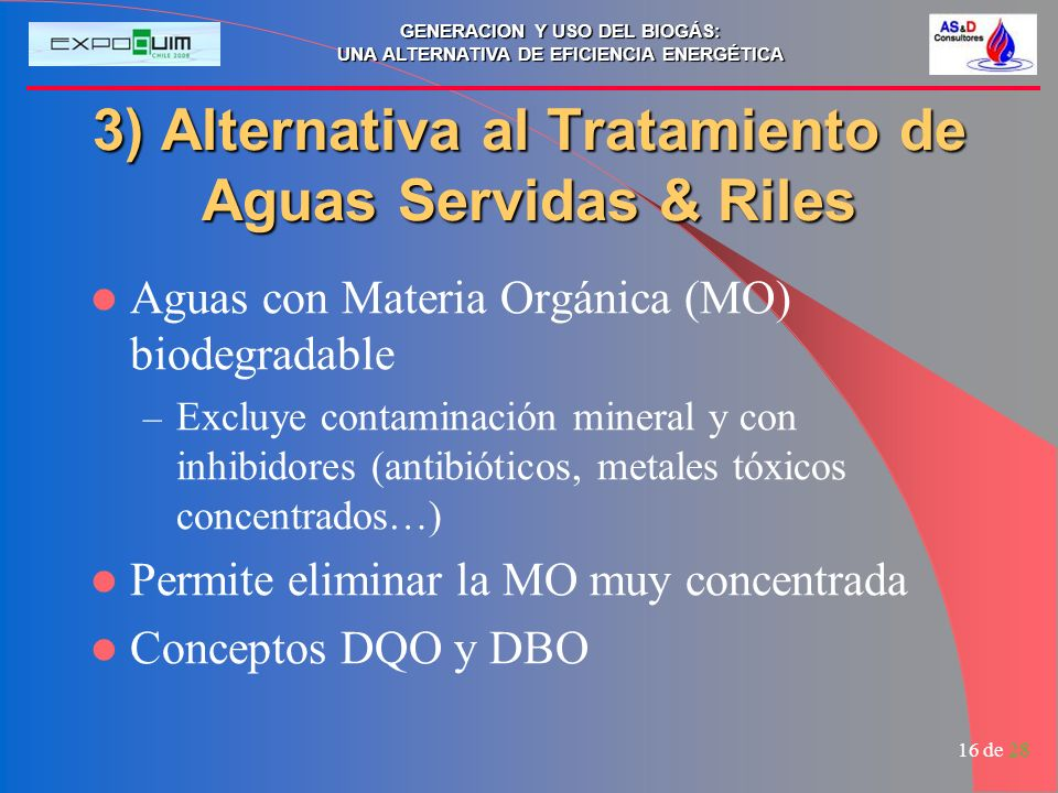 3) Alternativa al Tratamiento de Aguas Servidas & Riles