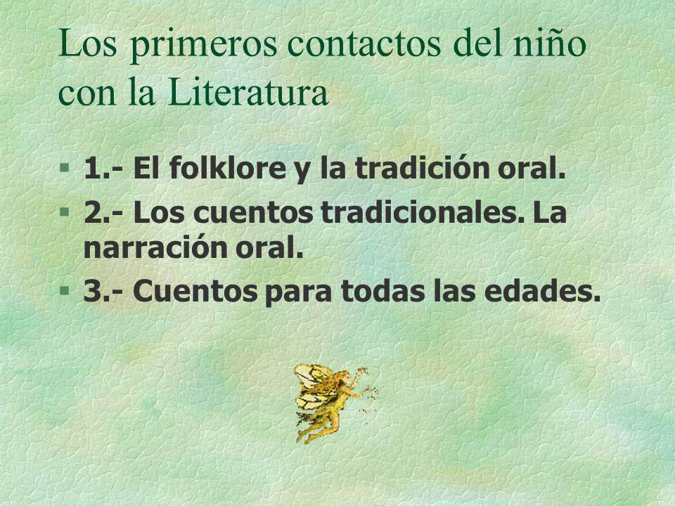 Los primeros contactos del niño con la Literatura