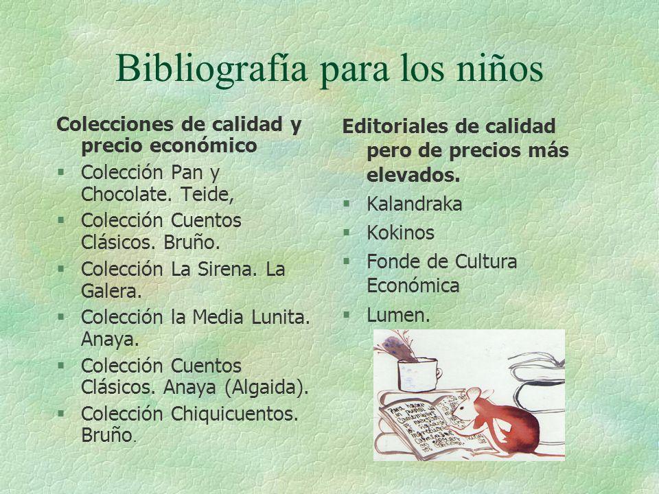 Bibliografía para los niños