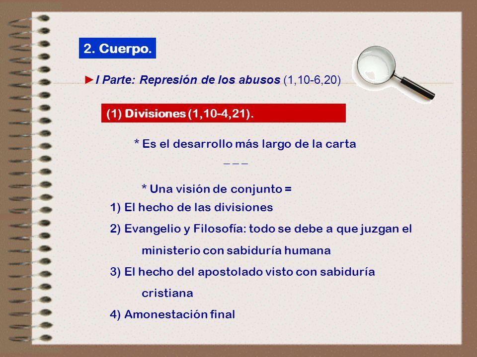 2. Cuerpo. ►I Parte: Represión de los abusos (1,10‑6,20)