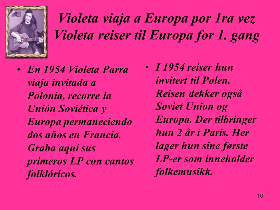 29.03.2017Violeta viaja a Europa por 1ra vez Violeta reiser til Europa for 1. gang.