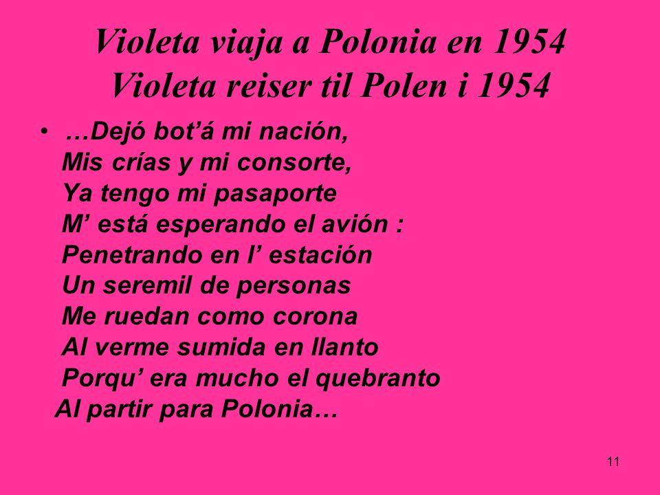 Violeta viaja a Polonia en 1954 Violeta reiser til Polen i 1954