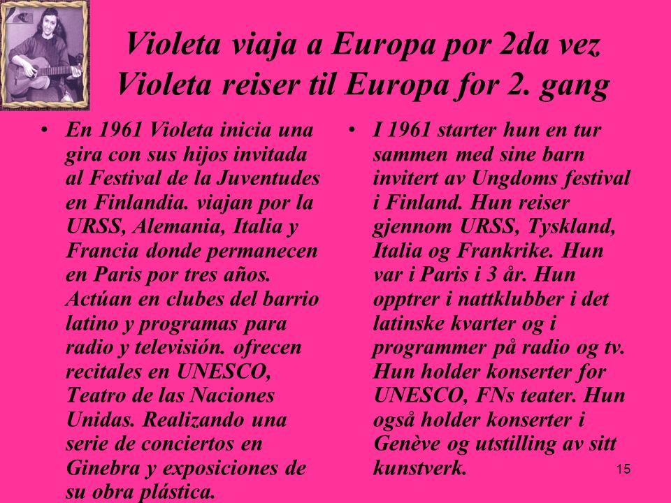 29.03.2017 Violeta viaja a Europa por 2da vez Violeta reiser til Europa for 2. gang.