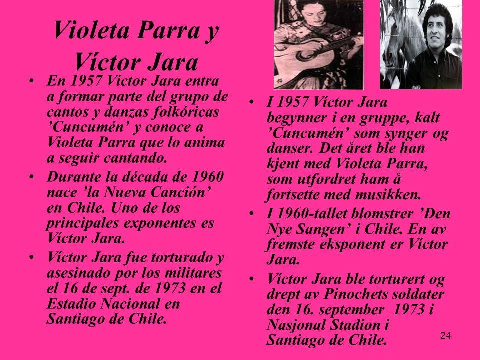 Violeta Parra y Víctor Jara