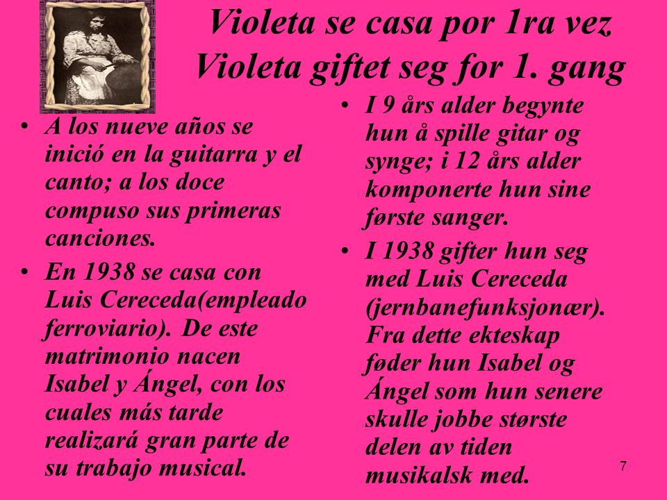 Violeta se casa por 1ra vez Violeta giftet seg for 1. gang