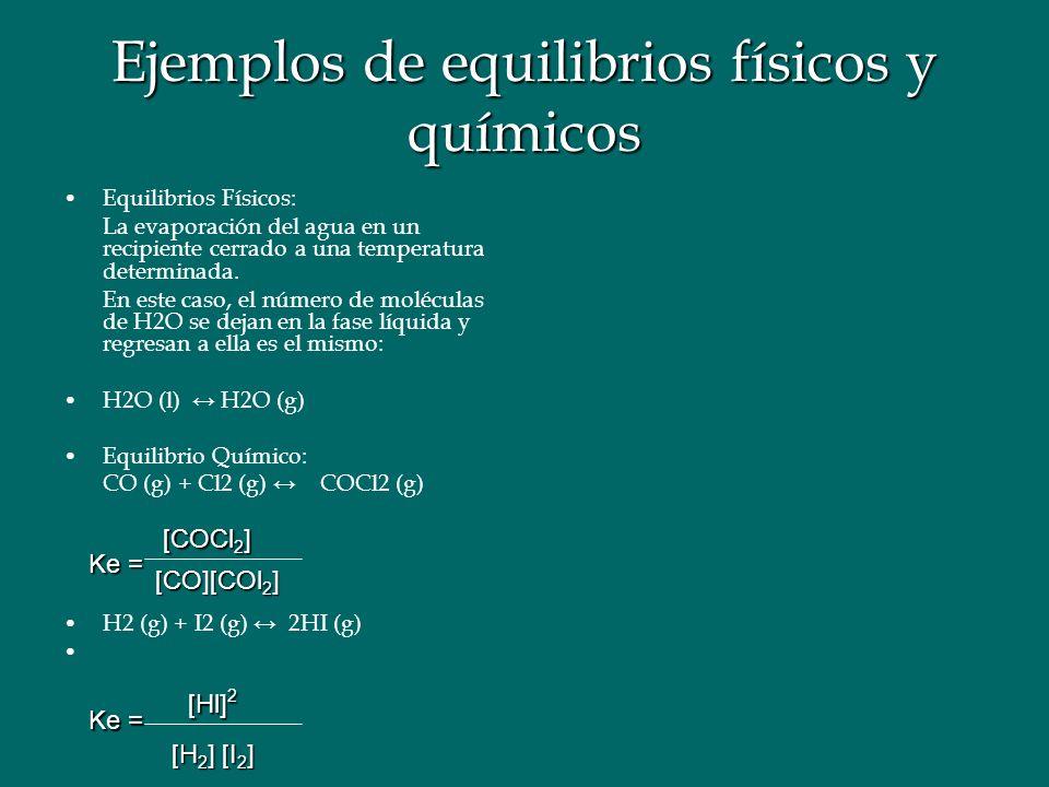 Ejemplos de equilibrios físicos y químicos