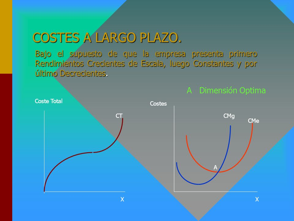 COSTES A LARGO PLAZO.