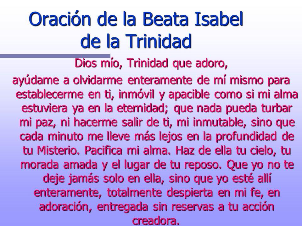 Oración de la Beata Isabel de la Trinidad