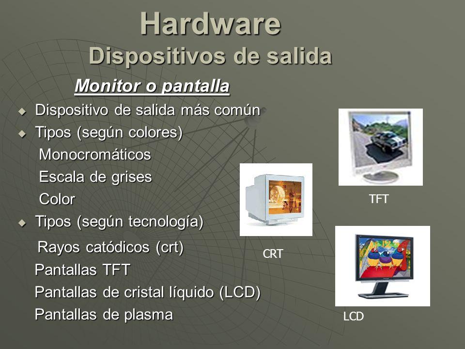 Hardware Dispositivos de salida